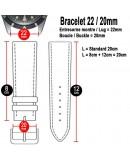 Bracelet Hirsch RALLY noir 22mm trous noirs