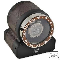 Watchwinder Scatola del Tempo - Rotor One Sport Dark Brown