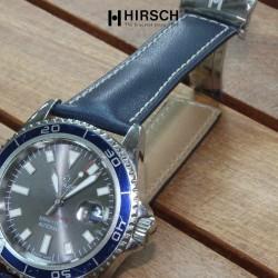 Watchstrap Hirsch SPEED 22mm blue with deployment buckle