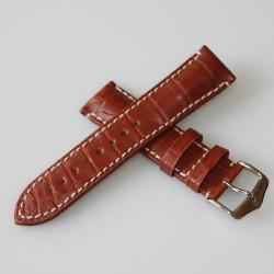 Watchstrap Hirsch Viscount Alligator Light Brown 22mm