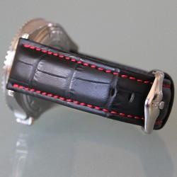 Watchstrap Hirsch Grand Duke Black 22mm