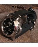 Watchstrap Arezzo BRUTUS 24mm Vintage black Leather white stiches