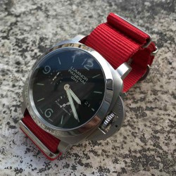 Bracelet de montre NATO 24mm Rouge