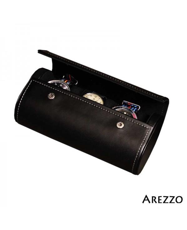 Watch Roll PRESTIGIUM3 black leather for 3 watch