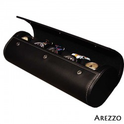 Roll 5 montres PRESTIGIUM5 en cuir noir