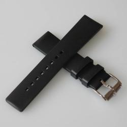 Watchstrap Hirsch PURE Black 20mm Rubber