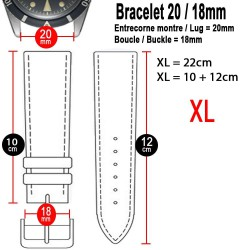 Watchstrap XL Hirsch PURE Black 20mm Rubber