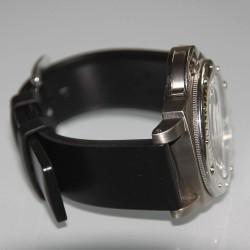Watchstrap Hirsch PURE Black 22mm Rubber