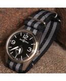 NATO Strap James Bond Black Grey 22mm