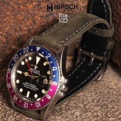 Watchstrap Hirsch HERITAGE grey 20mm