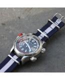 NATO Strap marine blue and white center 20mm