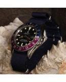 Bracelet de montre NATO 20mm Bleu Marine