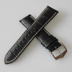 Watchstrap Hirsch Grand Duke Black 18mm