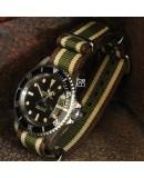 NATO Strap Kaki and beige vintage 20mm