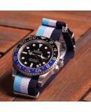NATO Strap blue white bluesky 20mm