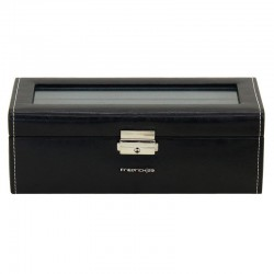 Black watchbox for 4 watches