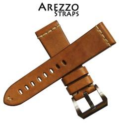 Watchstrap Arezzo MARINA 22mm Light Brown