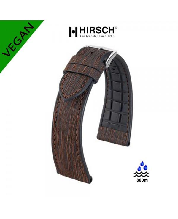 Watchstrap Hirsch BARK eucalyptus VEGAN 20mm