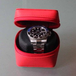 Watch case red for one watch