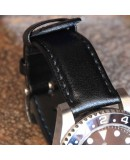 Watchstrap Hirsch RUNNER black 22mm