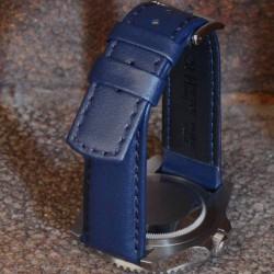 Watchstrap Hirsch RUNNER navy blue 22mm