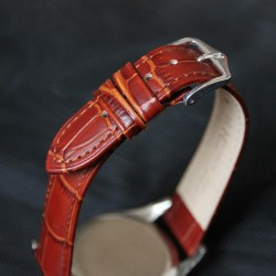 Watchstrap Hirsch DUKE gold brown 22mm