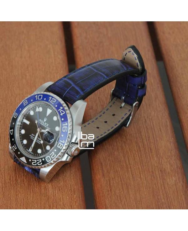 Watchstrap AREZZO PATINO blue 20mm