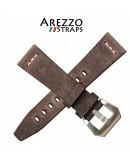 Watchstrap AREZZO SAFARI brown 22mm