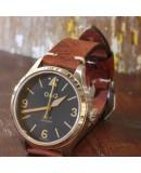 Watchstrap AREZZO BUFFALO brown 22mm