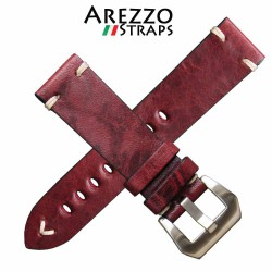 Watchstrap AREZZO BUFFALO bordeaux 22mm