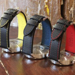 Watchstrap AREZZO RACING red stich 20mm