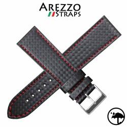 Bracelet RACING WATERPROOF coutures rouge 22mm