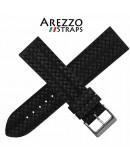 Watchstrap AREZZO CORDA black 20mm