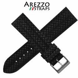 Watchstrap AREZZO CORDA black 22mm