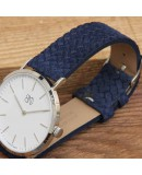 Watchstrap AREZZO CORDA blue 22mm