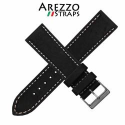 Watchstrap AREZZO RICCARDO black 22mm