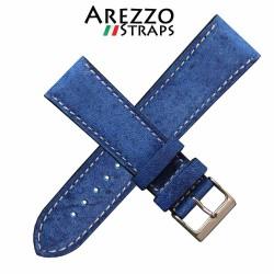 Bracelet montre AREZZO RICCARDO veau bleu 20mm