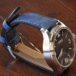 Watchstrap AREZZO RICCARDO blue 22mm