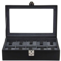 Watch Box leather and glass for 10 watches Fried23