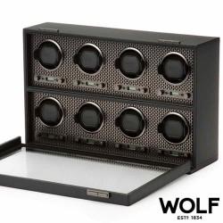 Remontoir WOLF AXIS 8 montres black