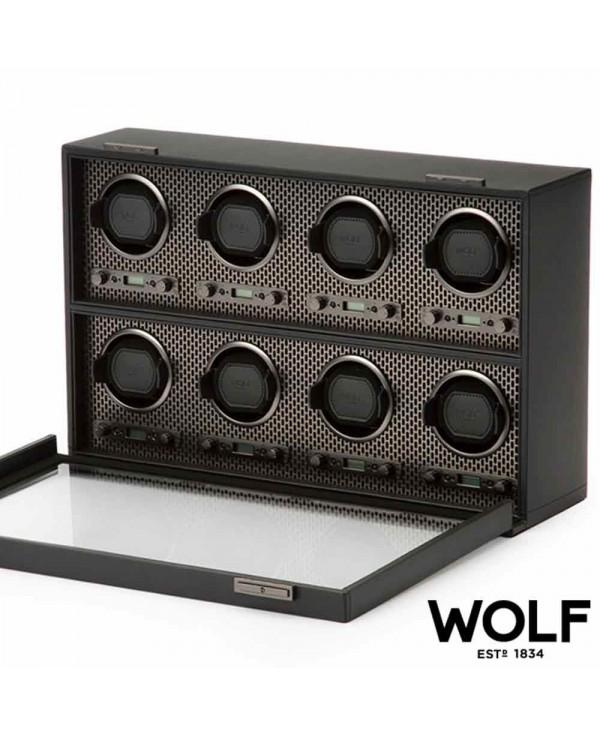 Watchwinder WOLF AXIS 8 black