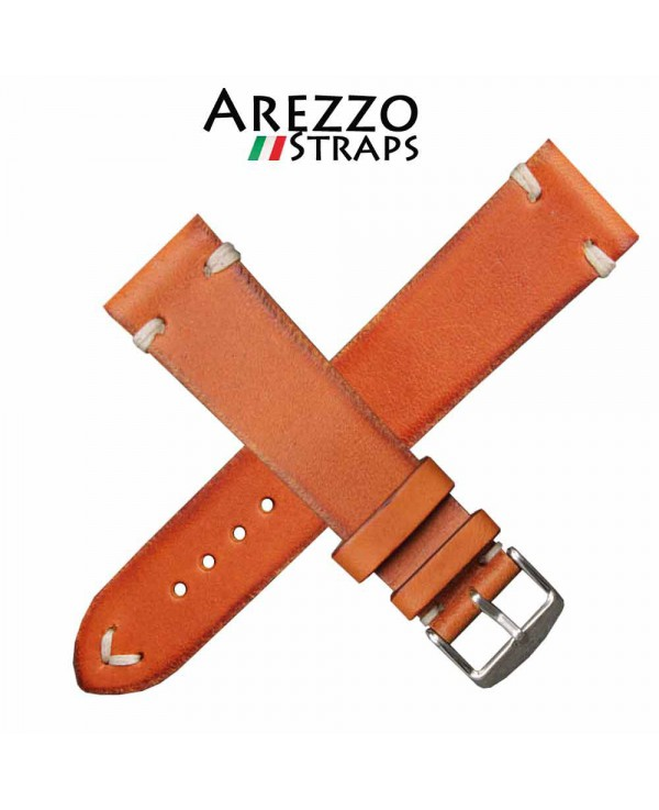 Watchstrap AREZZO VINTAGE leather honey 22mm