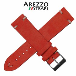 AREZZO NUBUCK Vintage RED 20mm