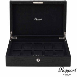 Rapport London Collector Box 10 watch black leather
