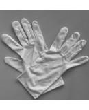 White Gloves Microfiber White