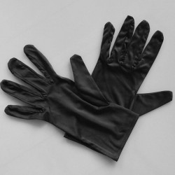 White Gloves Microfiber Black