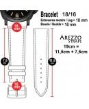 Bracelet montre AREZZO VINTAGE CUIR bordeaux 18mm