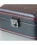 Boite 4 montres Carbon Noir intérieur Rouge Friedrich