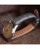 Watchstrap BIRDY OSTRICH grey 18mm