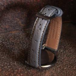Watchstrap BIRDY OSTRICH grey 20mm